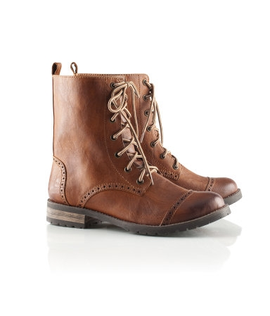 Kids Brown Combat Boots - Yu Boots