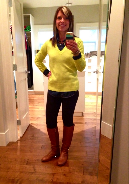 Friday Find ~ Colorful V-Neck Sweater! | Sugar Plum Sisters