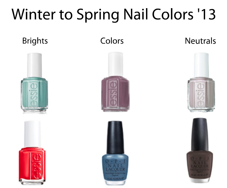 nail colors winter to spring 2013