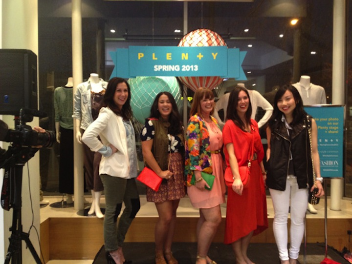 The Style Common ladies show off their spring picks . Image