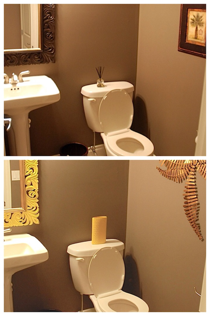powder room collage