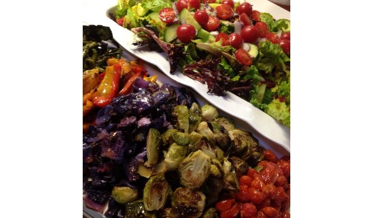 veg and salad