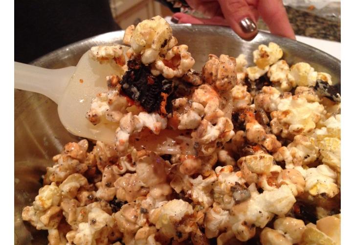 halloween popcorn mixed