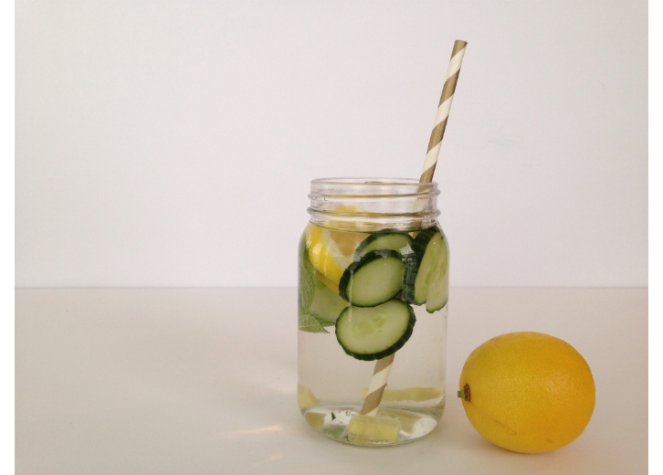 detox water glass