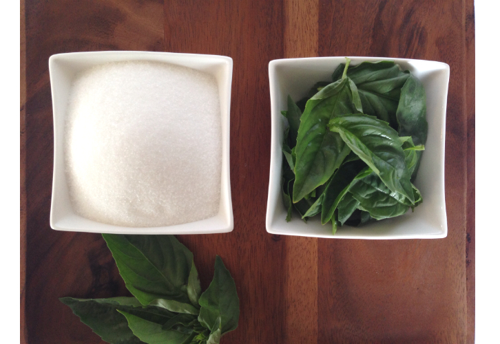 basil and sugar