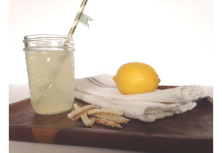 basil lemonade sparkler