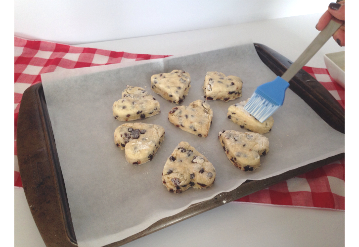 choc cherry scones cream