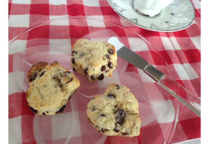 choc cherry scones mini