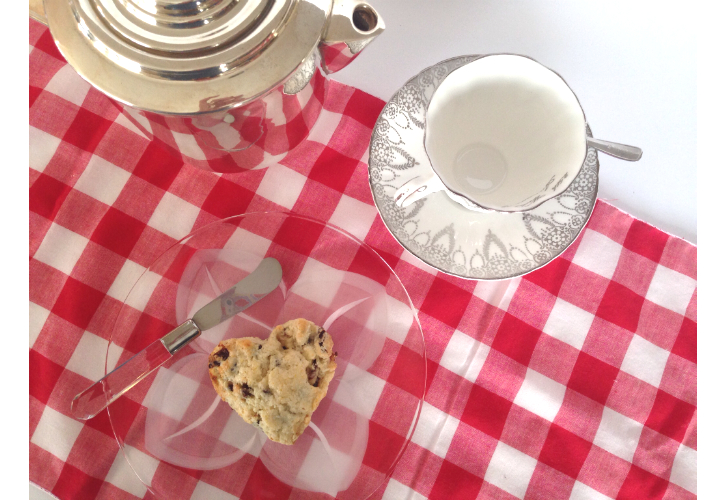 choc cherry scones tea