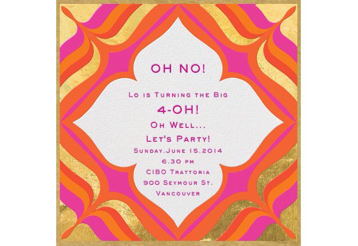 Lo's 40th invite