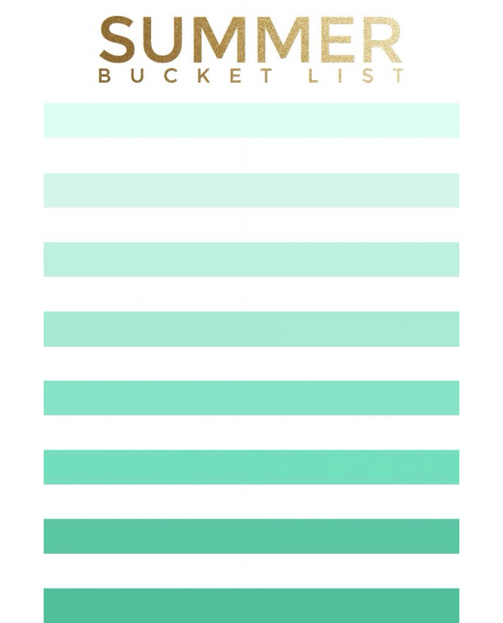 summer bucket list 2014 - 2