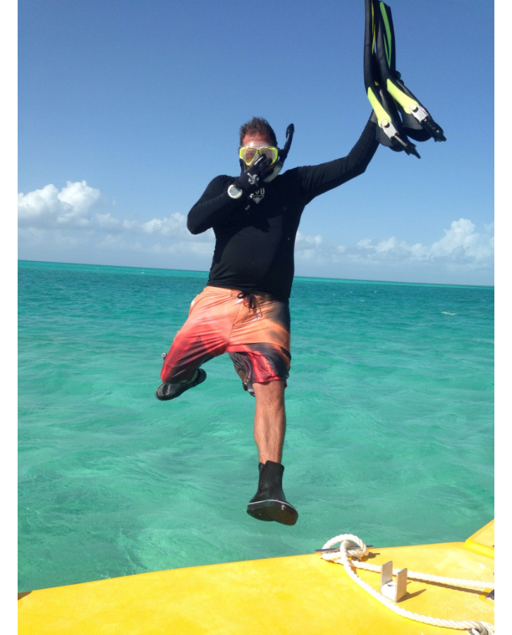 Jason snorkeling