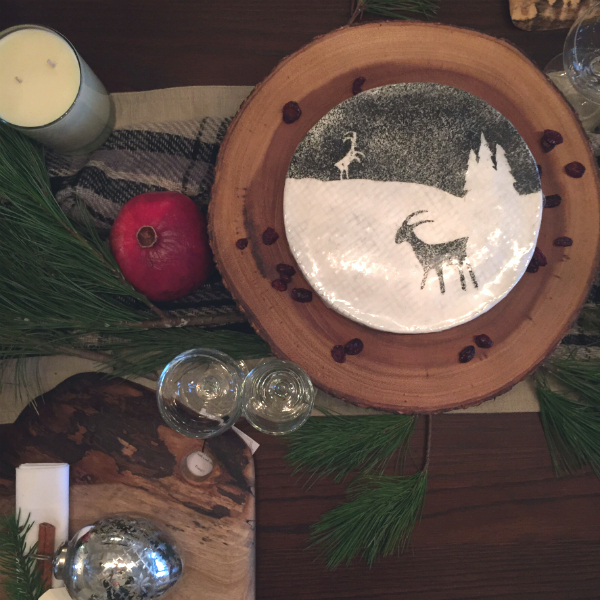 Organic Christmas Table Cheese