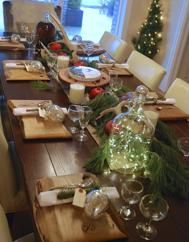 Organic Christmas Table Overview