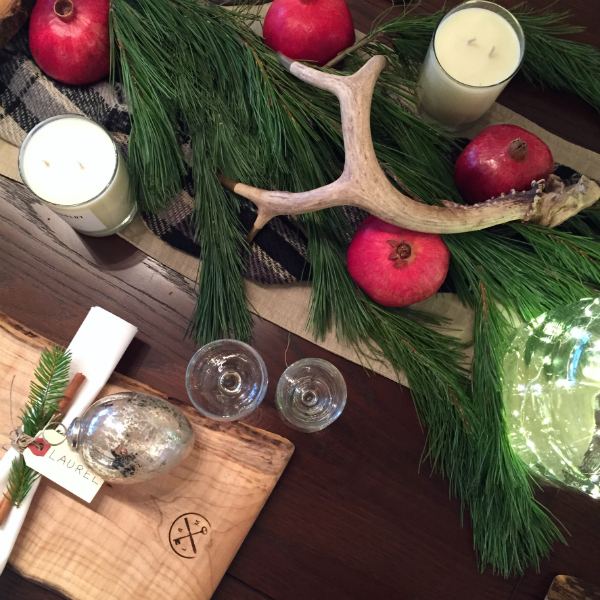 Organic Christmas Table Setting2