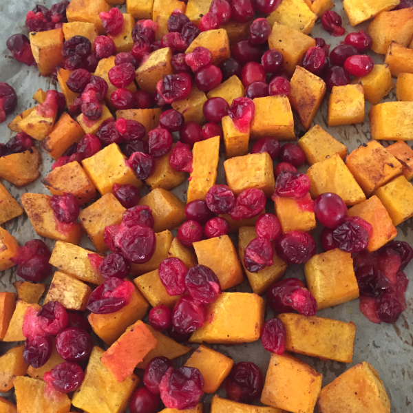 butternut squash and cranberries