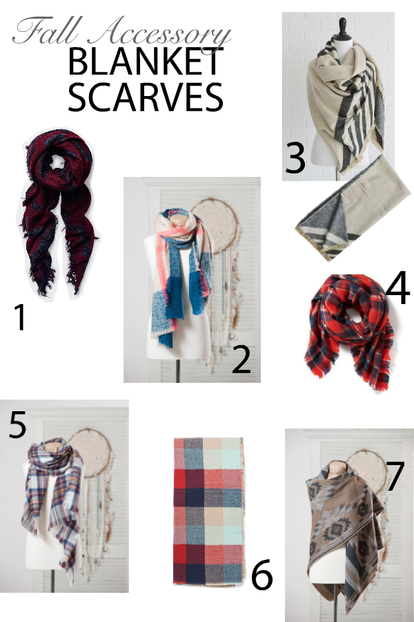 Blanket scarves collage