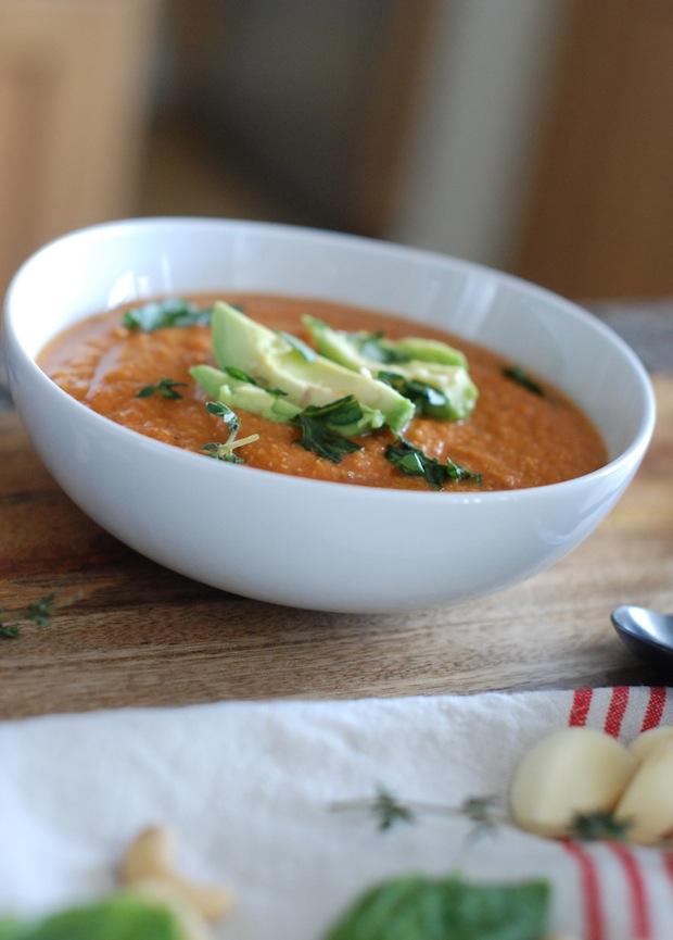 "Healthy ""Cream"" of Tomato Soup | Sugar Plum Sisters"