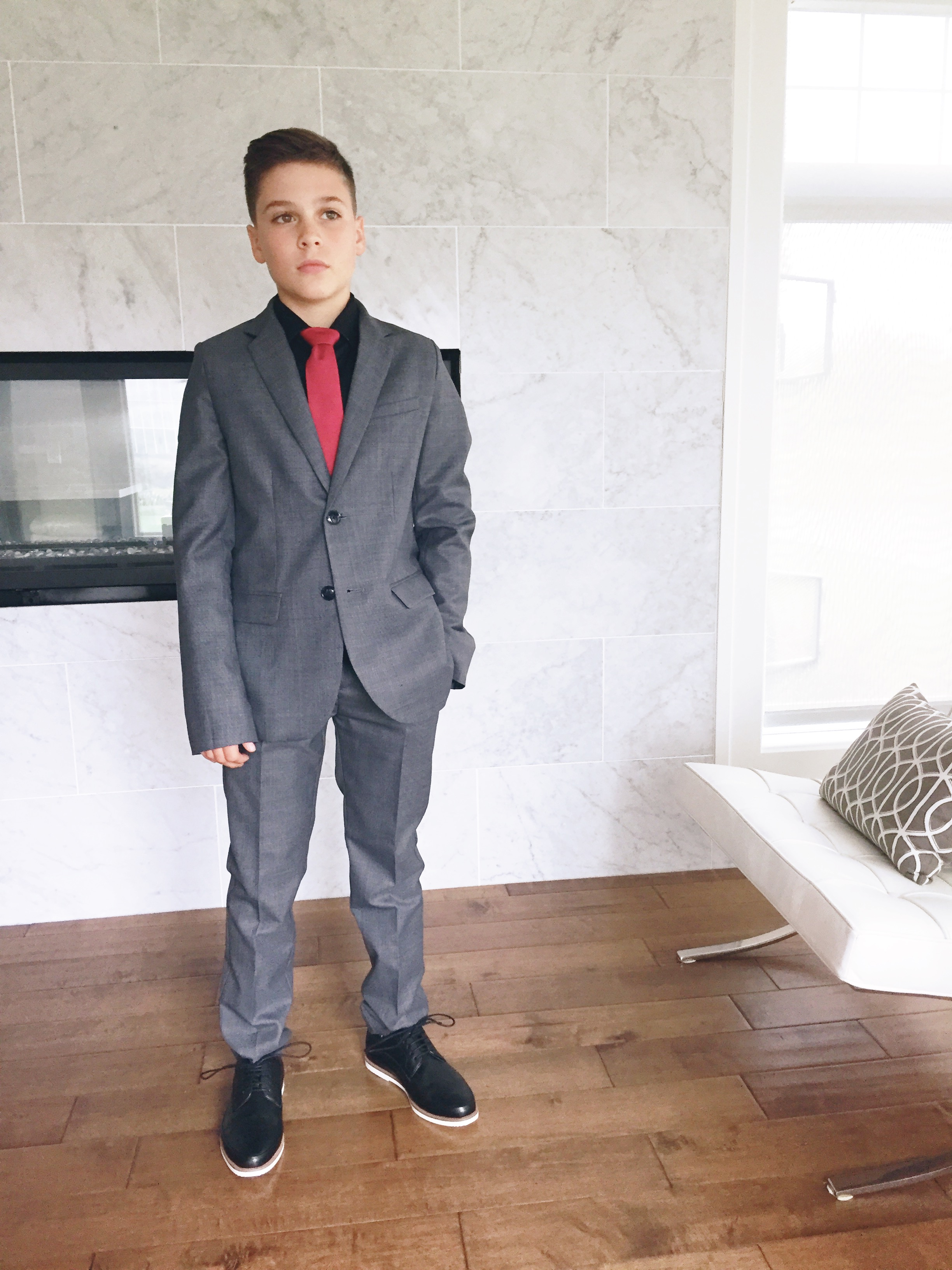4fbbb200f Shopping with or for your teenage son can be painful. I don't know many boys  or men that enjoy shopping. Mac recently needed a suit to wear to his  hockey ...